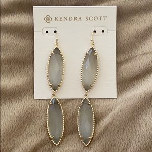 Gray and Gold Kendra Scott Earrings